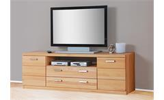 TV BOARD 4 CHARLOTTE LOWBOARD TV REGAL HIFI MÖBEL IN KERNBUCHE TEILMASSIV