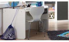 Schreibtisch ROCCO Jugendzimmer weiß anthrazit verstellbar