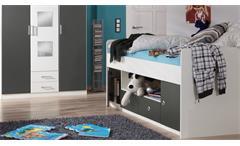 Jugendzimmer Rocco Kinderzimmer in weiß und anthrazit mit Schreibtisch