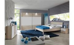 Schlafzimmer-Set KAYO Sonoma Eiche sägerau und Weiß