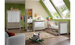Babyzimmer-Set CHERIA Sonoma Eiche sägerau Weiß 4-tlg.