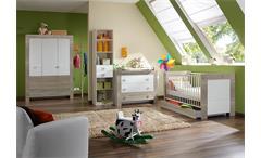 Babyzimmer PIKA in Sonoma Eiche sägerau und Weiß 4-teilig