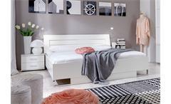Futonbett DAVOS Bett 160x200 cm Alpinweiß und Chromfüße