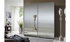 Schwebetürenschrank LESCA in Lavabraun mit Spiegel 180