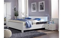 Kompaktbett Chalet Schlafzimmer Bett Alpinweiß 100x200 cm  höhenverstellbar