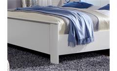 Kompaktbett Chalet Schlafzimmer Bett in Alpinweiß 180x200 cm höhenverstellbar