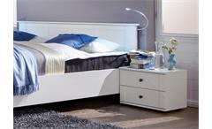 Schlafzimmer Kombi 1 Chalet in Alpinweiß mit Spiegeln Bett Schrank Nachtkommoden