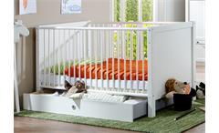 Babybett Filou Kinderzimmer Kinderbett in Alpinweiß 70x140cm mit Schlupfsprossen
