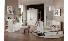Babyzimmerset Filou 3 teilig in Alpinweiß Bett Schrank Wickelkommode