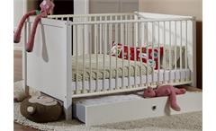 Babyzimmerset Filou 8 teilig in Alpinweiß Bett Schrank Wickelkommode