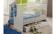 Babybett Bibi weiß Gitterbett Babyzimmer Kinderbett 70x140 mit Schlupfsprossen