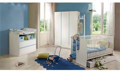 Babyzimmer BIBI 4-teilig Weiß und Iceblau