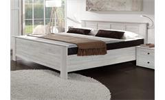 Schlafzimmer Kombi 5 Chalet in Weißeiche Bett Schrank Nachtkommode