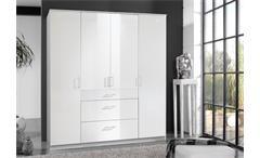 Kleiderschrank Clack Drehtürenschrank in hochglanz weiß Alpinweiß 180 cm