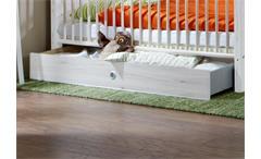Babybett Filou Kinderbett in Weißeiche 70x140cm mit Schlupfsprossen und Bettkasten