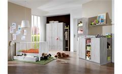 Babyzimmerset Filou 8 teilig in Weißeiche Bett Schrank Wickelkommode