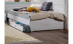 Bett Filou Kinderzimmer Kinderbett mir Schubkasten in Weißeiche Dekor 90x200cm
