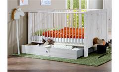 Babybett Filou Kinderzimmer Kinderbett in Weißeiche 70x140cm mit Schlupfsprossen