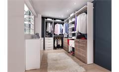 Garderobe groß Level Up begehbarer Kleiderschrank in Alpinweiß Montana Eiche