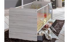Babyzimmer Set 3 Cariba 8 tlg. in Weißeiche Absetzungen Lavafarbig