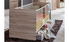 Babyzimmer Set 1 Cariba 9 tlg. in San Remo-Eiche Absetzungen Alpinweiß