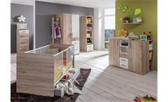 Babyzimmer 2 Cariba 9 tlg. San Remo-Eiche Kleiderschrank 2-türig
