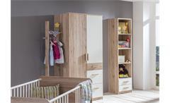 Babyzimmer Set 2 Cariba 9 tlg. in San Remo-Eiche Absetzungen Alpinweiß