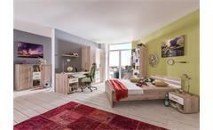 Jugendzimmer Set 1 Cariba 8 tlg. in San Remo-Eiche Absetzungen Alpinweiß