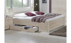 Funktionsbett Match Up Schlafzimmer Eiche sägerau Absetzung Alpinweiß 180x200 cm