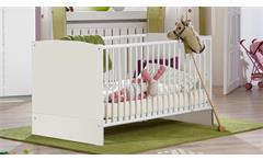 Babybett Elly weiß Babyzimmer Kinderbett 70x140 cm Schlupfsprossen
