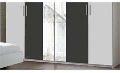 Schlafzimmer Set Ilona in Alpinweiß und anthrazit Futonbett 180x200