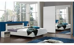 Schlafzimmer ILONA Alpinweiß anthrazit Schweber mit Spiegel