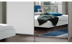 Schlafzimmer Set Ilona Alpinweiß anthrazit mit Bett 180x200 Schwebetürenschrank