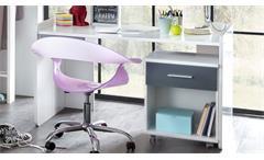 Schreibtisch Joker Alpinweiß und anthrazit Computertisch PC-Tisch Bürotisch