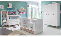 Babyzimmer Komplettset 1 BILLU Alpinweiß und Eiche Sägerau