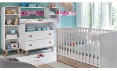 Babyzimmer Komplettet 1 Billu Alpinweiß Eiche Sägerau 8-tlg Kinderzimmer