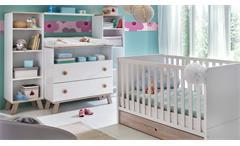 Babyzimmer Komplettet 2 Billu Alpinweiß Eiche Sägerau Kinderzimmer 8-tlg
