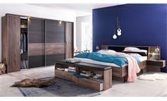Schlafzimmer Komplettset Virgo in Schwarzeiche und Schlammeiche inkl. LED