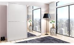 Schwebetürenschrank Baden Kleiderschrank in Alpinweiß mit Spiegel Schlafzimmer SchrankSchwebetürensc
