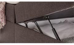 Boxspringbett Mercura Bett für Schlafzimmer in braun mit Topper 180x200 cm