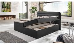 Doppelbett  MALLOCA Funktionsbett Stauraum Federkernbox mit Topper