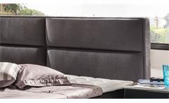 Doppelbett Mercura anthrazit Federkernbox Topper 180x200 aufklappbar Stauraum