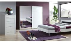 Schwebetürenschrank EASY PLUS Alpinweiß mit Spiegel 180 cm Breite