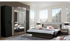 Schlafzimmer FRANZISKA Lava Wildeiche Doppelbett Kleiderschrank