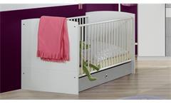Babybett Joker Gitterbett in weiß 70x140 Sprossenbett Kinderbett Babyzimmer