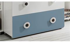 Wickelkommode Töre Wickeltisch in weiß und blau Babyzimmer