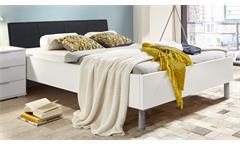 Futonbett EASY BEDS D Bett 180x200cm in weiß und Polster schwarz