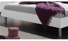 Futonbett Easy Beds D 180x200 Bett Doppelbett in weiß und Polster schwarz