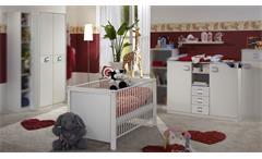 Babyzimmer Jalta 3-tlg. weiß Kinderzimmer Wickelkommode Kleiderschrank Babybett