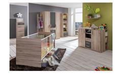Babyzimmer Set Kinderzimmer Cariba 3-tlg. San Remo Eiche graphit 70x140 cm